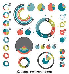 komplet, okrągły, charts.
