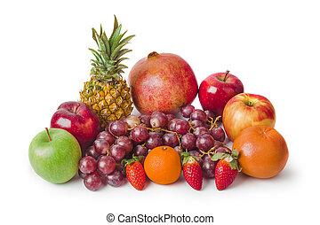 komplet, owoce