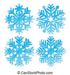 komplet, płatki śniegu