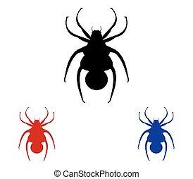 komplet, pająki