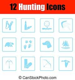 komplet, polowanie, ikony