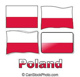 komplet, polska bandera