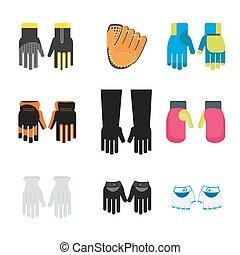 komplet, rękawiczki