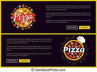 komplet, restauracja, promocyjny, internet, urządzenia wzywające do telefonu, pizza