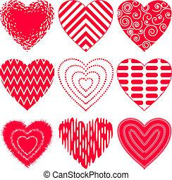 komplet, serce, valentine