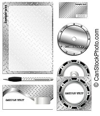 komplet, srebro, handlowy, reklama