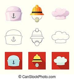 komplet, stock., poznaczcie., korona, dodatkowy, wektor, projektować, kłobuk, ikona
