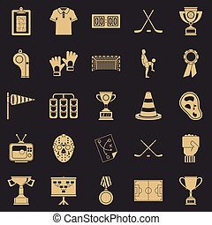 komplet, styl, premia, rysunek, ikony