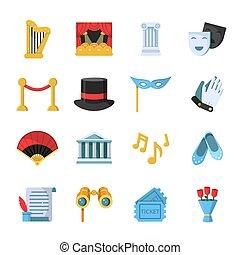 komplet, teatr, film, film, symbolika, ikona