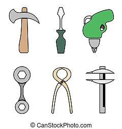 komplet, tools.