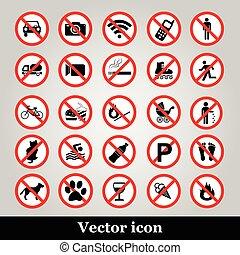 komplet, wyjęcie spod prawa, ikony, zabroniony, symbolika