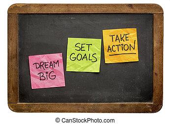 komplet, wziąć, cielna, czyn, cele, sen