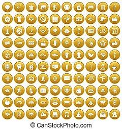 komplet, yoga, złoty, ikony, studio, 100