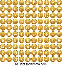 komplet, złoty, ikony, radiowy, 100, technologia
