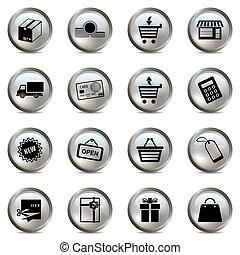komplet, zakupy, srebro, ikony