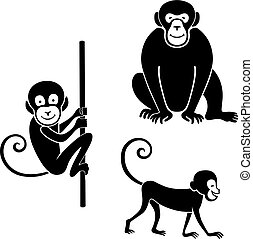 komplet, zwierzęta, ikona