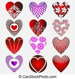 komplex, hjärta