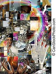 komplex, surreal, abstrakte kunst