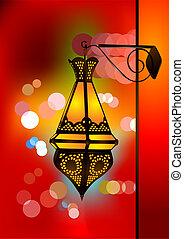 kompliziert, arabisches , lampe