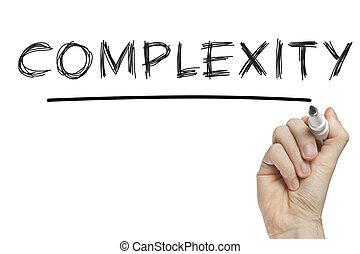 kompliziertheit, hand schreiben