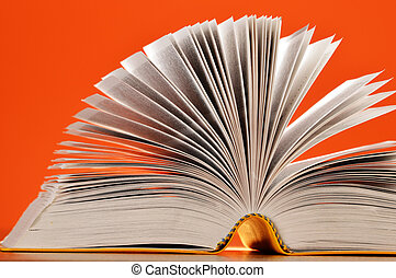 komposition, hos, bøger, tabellen