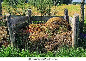 kompost, haufen , 05