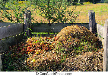 kompost, haufen