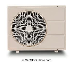 kompresor, biały, odizolowany, powietrze