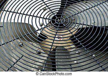 kompressor, luft, betingelse, fan.
