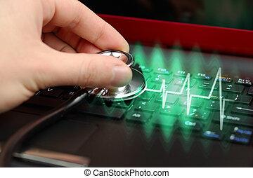 komputer, diagnoza