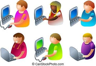 komputer, dzieciaki
