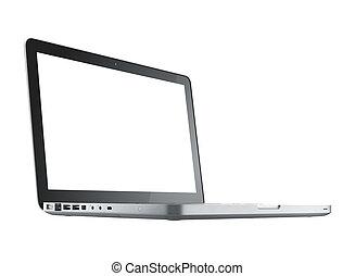 komputer, laptop, odizolowany