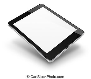 komputer, screen., tabliczka, czysty
