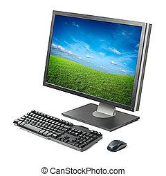komputer workstation, odizolowany