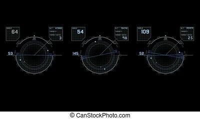 komputerowa gra, cześć-tech, interfejs