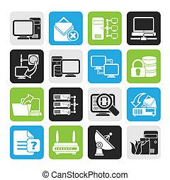 komputerowa sieć, ikony