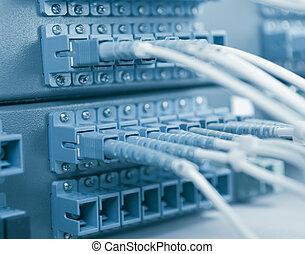 komunikace, a, internet, síť
