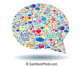 komunikace, bublina