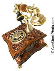 komunikace, dávný- podoba telefonovat, osamocený