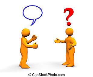 komunikace, otázka