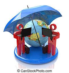 komunikacja, bezpieczeństwo, globalny