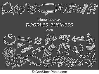 komunikacja, blackboard., doodles