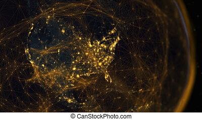 komunikacja, hemisfera, era, western, cyfrowy