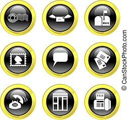 komunikacja, ikony