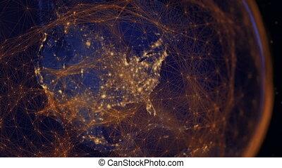 komunikacja, nowoczesny, hemisphere., western, era