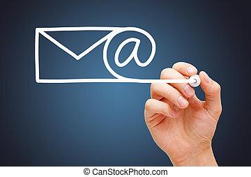 komunikacja, pojęcie, email, internet