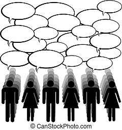 komunikacja, pojęcie, ludzie, chating
