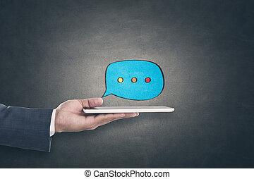 komunikacja, pojęcie, online