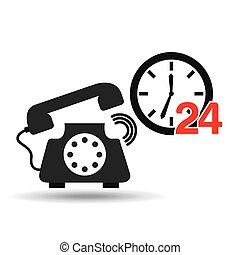 komunikacja, pojęcie, telefon, służba