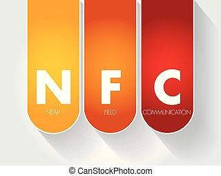 komunikacja, -, pole, akronim, nfc